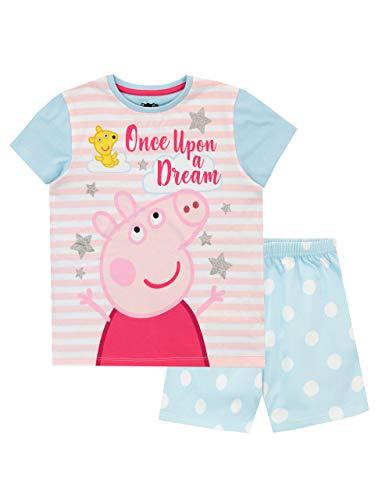 Peppa Pig Pijamas de Manga Corta para niñas Azul 6-7 Años