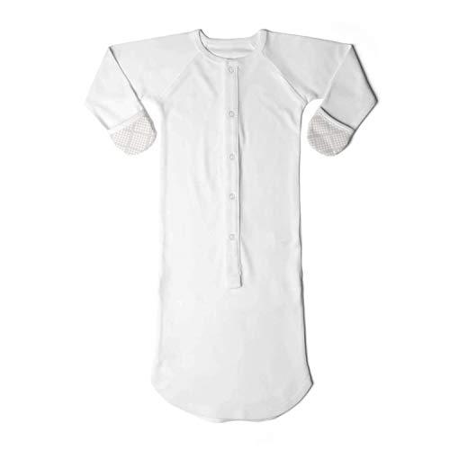 goumikids Pijamas convertibles en saco de dormir para bebé-niñas 0-3 Meses Crema