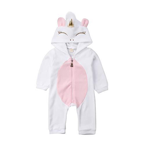 Zukmuk Pijama para bebé recién nacido, pijama para bebé, niña, pijama, pelele de unicornio,...