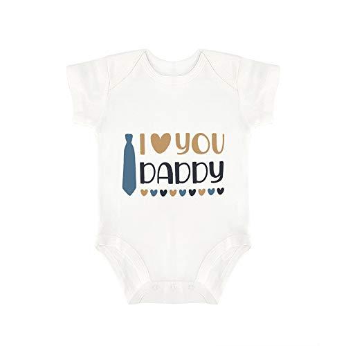 Promini Lindo Baby Onesie I Love You Daddy Baby Body Bebé De Una Pieza Mameluco El Mejor Regalo...