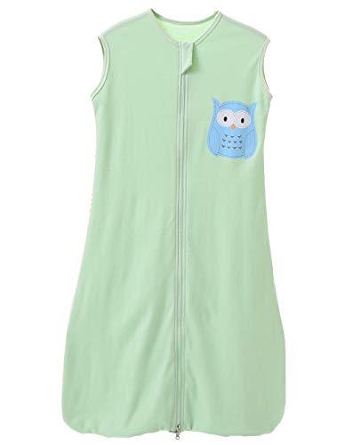 Saco de dormir para bebé de verano para niña, primavera, pijama de algodón fino con búho verde,...