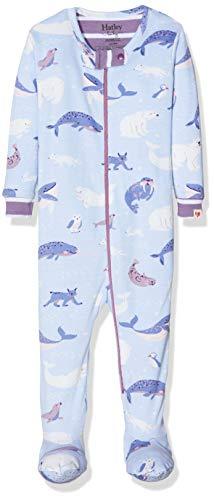 Hatley Footed Coverall Pijama, Azul (Polar Critters 400), 3-6 Meses (Talla del Fabricante: 3M-6M)...