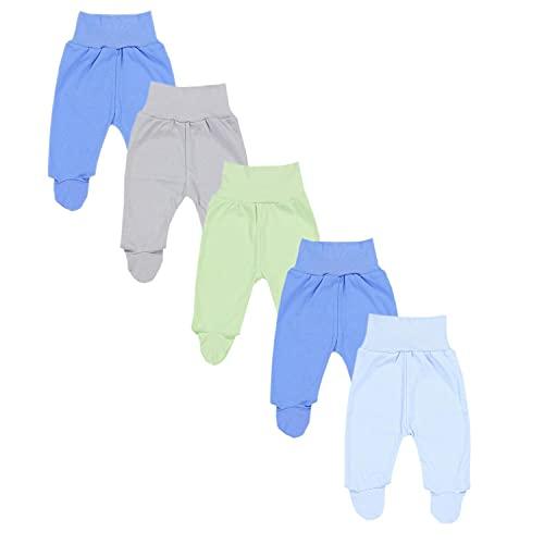 TupTam Pantalón con Pies de Bebé Paquete de 5 pies, Niño 2, 56