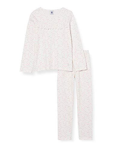 Petit Bateau 5903501 Pijama, Marshmallow/Multico, 5 años para Niños