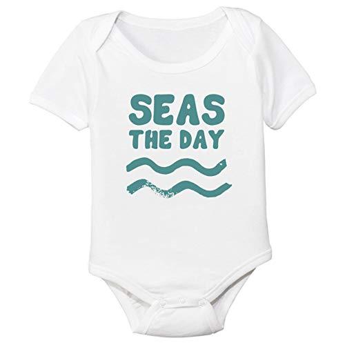 Promini Lindo Seas The Day Beach Waves Body de algodón para bebé Cool Baby Onesies