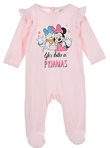 Minnie Mouse bebé-niñas Pijama Largo (Rosa Claro,18 Meses)