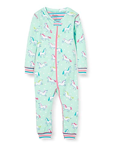 Hatley Organic Cotton Sleepsuits Pelele para Dormir, Azul (Prancing Unicornios 400), 24 Meses para...