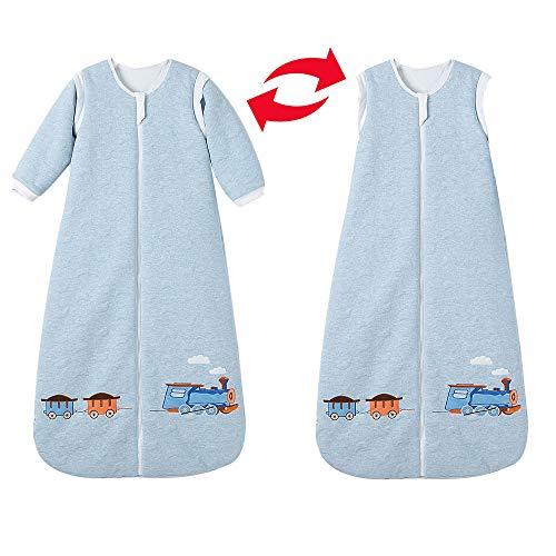 Saco de dormir para bebé de invierno con mangas, para niños y niñas recién nacidos, 3,5 tog, 0...