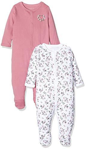 NAME IT NBFNIGHTSUIT 2P W/F Noos Pijama, Multicolor (Heather Rose Heather Rose), 86 (Pack de 2) para...