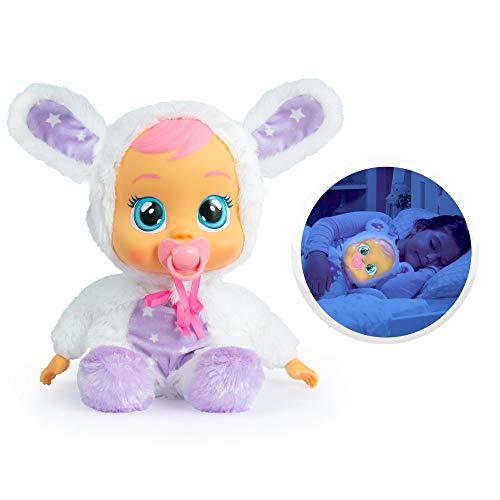 Bebés Llorones Buenas Noches Coney - Muñeca interactiva que llora de verdad con chupete y pijama...