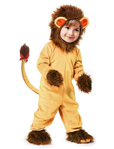 IKALI Disfraz de león para bebé, Pijamas de animales de halloween,Mono de mameluco de un tamaño...