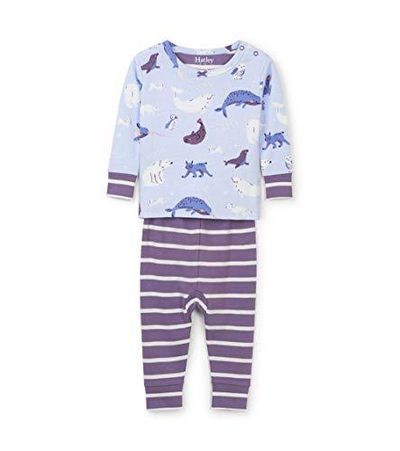 Hatley Mini Organic Cotton Long Sleeve Pyjama Sets Conjuntos de Pijama, Azul (Polar Critters 400),...