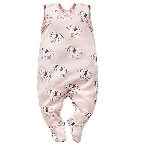 Pinokio - Wild Animals - Niñas y niños Mameluco 100% algodón, azul y rosa con animales Tiger...