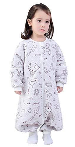 Happy Cherry – Saco de dormir para bebé niña con mangas extraíbles, de algodón para primavera,...