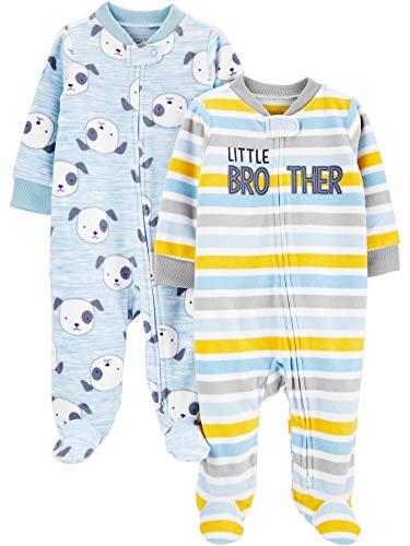 Simple Joys by Carter's 2-Pack Fleece Footed Sleep and Play para bebés y niños pequeños, Azul...