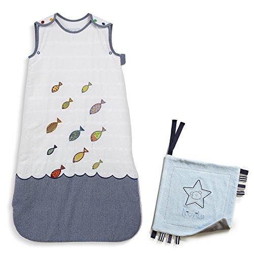 NioviLu Design Saco de dormir para bebé - Plouf (6-18 meses / 90 cm - 2.5 Tog)