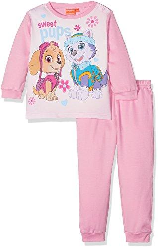 Nickelodeon Paw Patrol Colorful Sweet Pups Conjuntos de Pijama, Rosa, 18 Meses para Bebés
