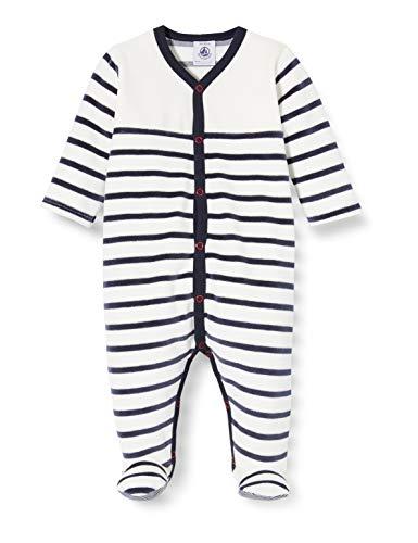 Petit Bateau 5549201 Pijama, Multicolor (Marshmallow/Smoking Bek), 6-9 Meses (Talla del Fabricante:...