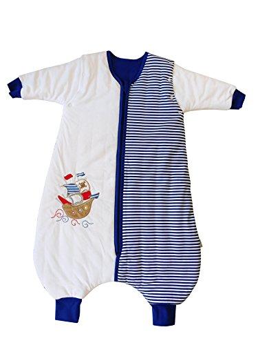 Saco de dormir Slumbersac para bebé con pies y mangas largas desmontables Grosor 2.5 -Pirata -...