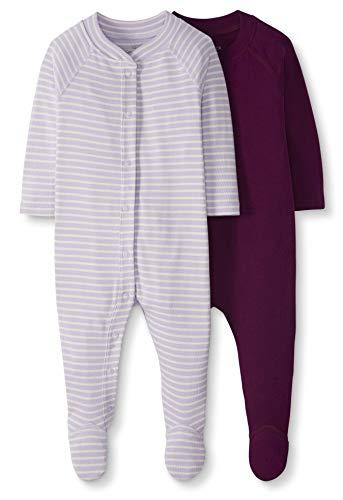 Moon and Back de Hanna Andersson - Pack de 2 pijamas pelele de bebé con pies hechos de algodón...