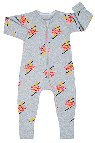 Dim 0A0I Pijama Largo para bebés y niños pequeños, Super Héro Gris Chine, 6 Meses