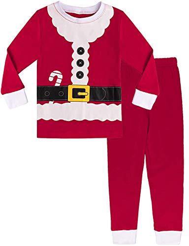 MOMBEBE COSLAND Pijama Papá Noel Niño Manga Larga Estampada (Papá Noel, 4 años)