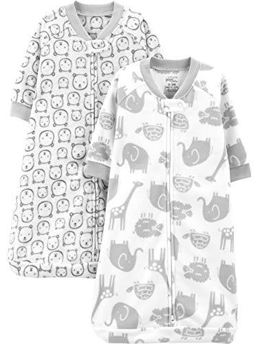 Simple Joys by Carter's 2-Pack Microfleece Sleepbag Wearable Blanket Manta portátil, Animales...