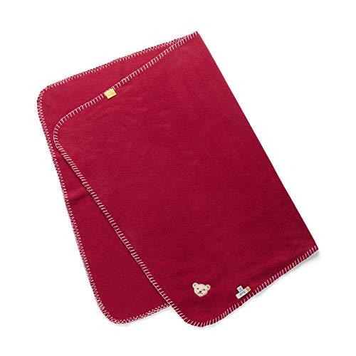 Steiff Bebé-Niñas Decke Saco de Dormir Not Applicable, Rojo (Beet Red 4010), Talla única