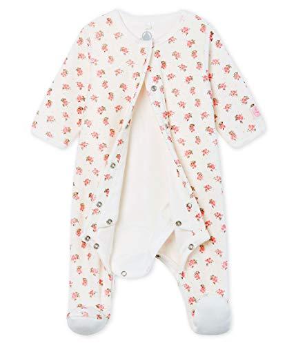 Petit Bateau Bodyjama_5011801 Pijama, Multicolor (Marshmallow/Multico 01), 68 (Talla del Fabricante:...