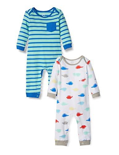 Amazon Essentials - Pack de 2 peleles para niño, Boy Dino, US 18M (EU 80–86)