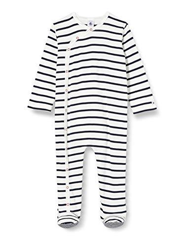 Petit Bateau 5549301 Pijama, Multicolor (Marshmallow/Smoking Bek), 3-6 Meses (Talla del Fabricante:...