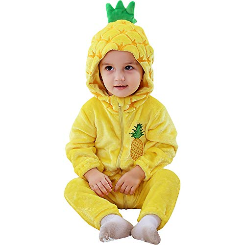 Katara Pijama Bebé Invierno Disfraz Animal (10+ modelos), color piña amarilla, 18-24 meses (1778)...
