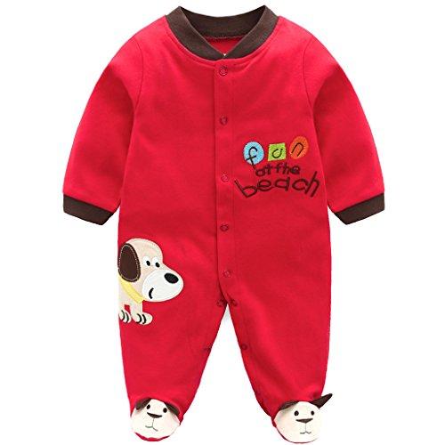 Bebé Pijama de Algodón Mameluco Niñas Niños Pelele Mono Manga Larga Trajes 3-6 Meses