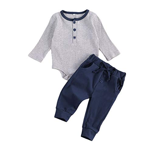 Conjunto de Ropa de Pijama de pantalón de bebé recién Nacido de Manga Larga Mono de Mameluco con...