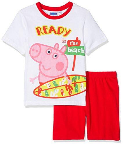 Peppa Pig George Conjuntos de Pijama, Rosso, 8 años para Niños