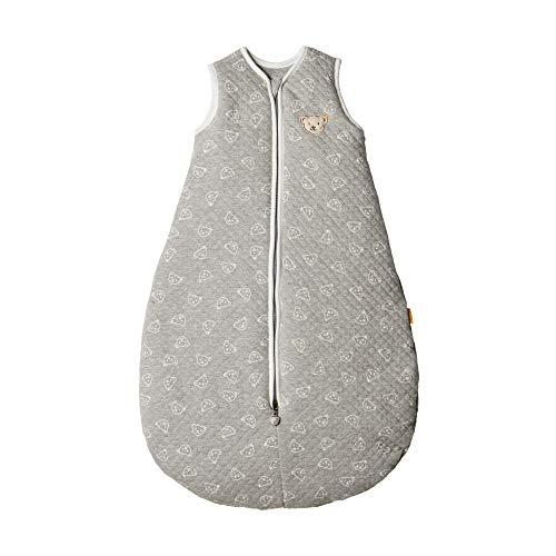 Steiff Sleeping Bag, Saco de dormir para Bebé-Niños, Gris (Quarry 9007), 74/80