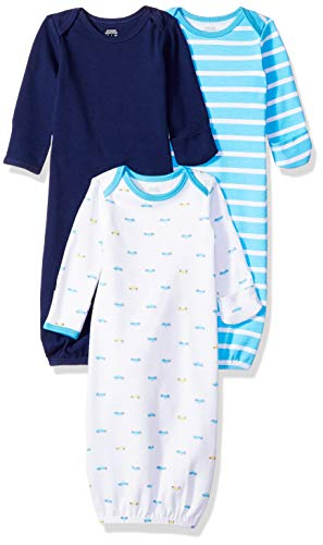 Amazon Essentials - Pack de 3 sacos de dormir de bebé para niño, Boy Car, US 0-6M (EU 56-68)