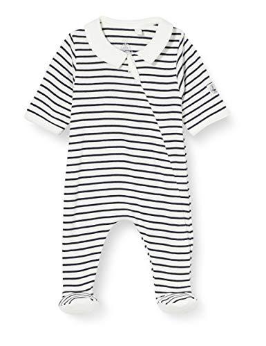 Petit Bateau 5572801 Pijama, Marshmallow/Fumar, Nacimiento para Bebés