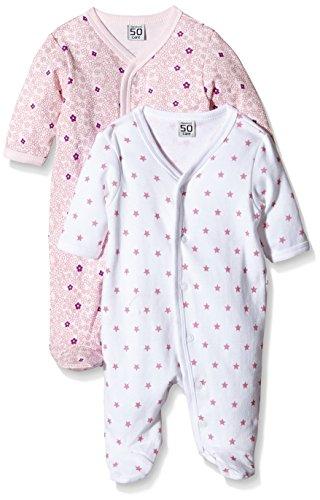 Care Pijama Bebé-Niñas, Pack de 2 Rosa (Light red 500) 3 mes