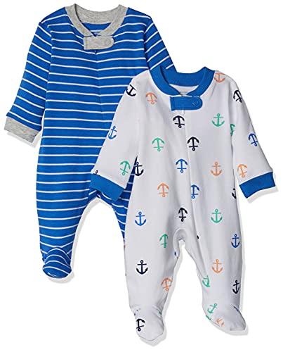Amazon Essentials - Pack de 2 pijamas de niño para dormir y jugar, Boy Nautical, Bebé prematuro