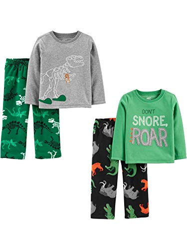 Simple Joys by Carter's 4-Piece Pajama Set (Poly Top & Fleece Bottom) Infant-and-Toddler Sets,...