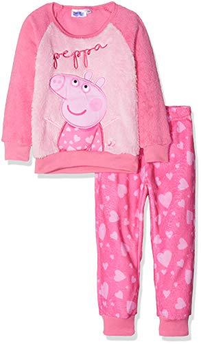 Peppa Pig Peppa Conjuntos de Pijama, Rosa (Rosa 17-2230tc), 8 años para Niñas