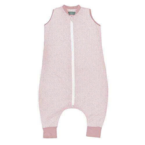 molis&co. Saco de Dormir con pies. 1.0 TOG. 2 años. Ideal para Primavera y otoño. Vichy Pink. 100%...