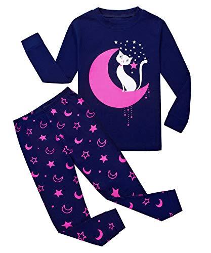 Tkiames - Pijama para niña de jirafa (2 piezas, ajustado, corte estrecho, 100% algodón, tallas...