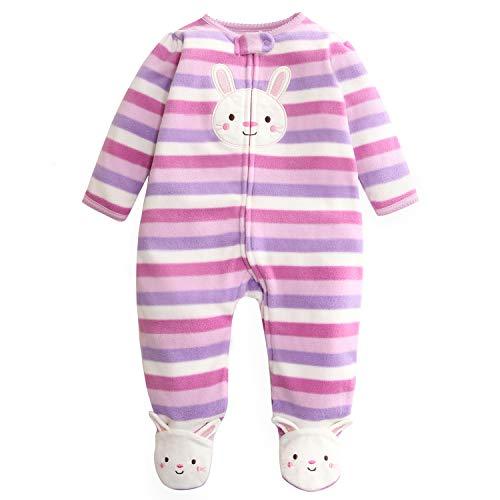 Bebé Mameluco Fleece Mono Manga Larga Bodys Linda Pijamas Cremallera Pelele 6-9 Meses