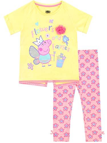 Peppa Pig Pijamas de Manga Corta para niñas Hadas Rosa 7-8 Años