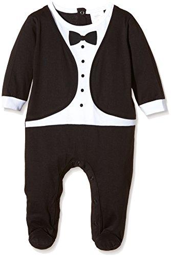 Twins 'Tuxedo' Pijama Bebés Negro 0-2 meses (Talla del fabricante: 50)