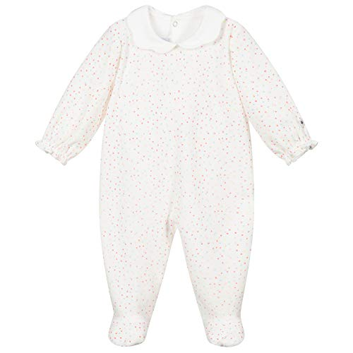 Petit Bateau 5928701 Camisón, Marshmallow/Multico, 24 Meses para Bebés