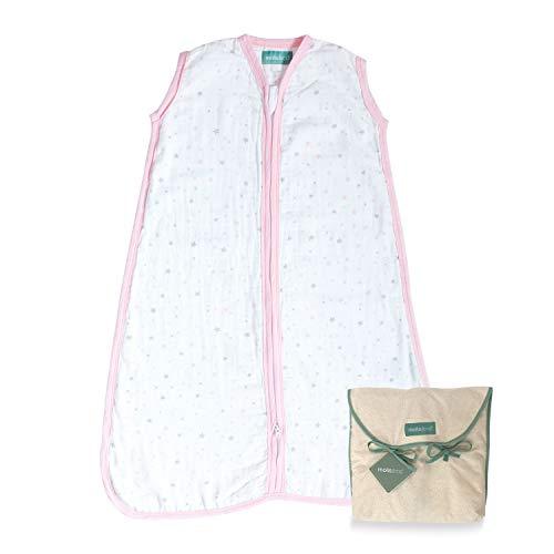 molis&co. Saco de Dormir para bebé 100% algodón. Ideal para Verano (0.4 TOG). Suavidad y frescor...