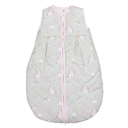 TupTam Saco de Dormir sin Mangas Calentado para Bebé, Unicornio Gris, 92-98